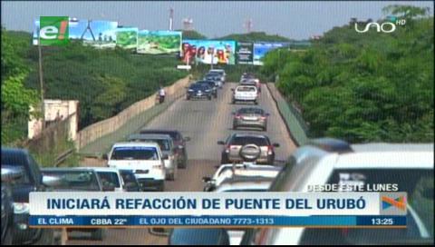 Gobernación cruceña invertirá Bs 1,6 millones en mantenimiento de accesos al puente Urubó