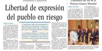 Portadas de periódicos de Bolivia del lunes 12 de noviembre de 2018