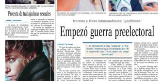 Portadas de periódicos de Bolivia del miércoles 14 de noviembre de 2018
