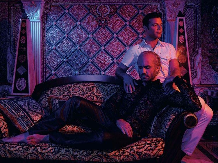 Una escena de la serie que revive el asesinato de Gianni Versace. y Ricky Martin se ponen en la piel del diseñador y su pareja.