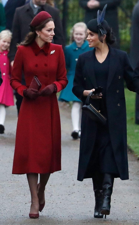 Kate Middleton y Meghan Markle juntas y unidas (AP)