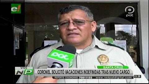"""Coronel David Flores: """"No puedo trabajar con un Gobierno que no está con la democracia"""""""