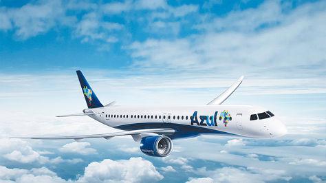 Aerolínea. Una  de las aeronaves  de Azul Linhas  Aéreas Brasileiras.