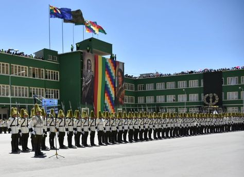 Un grupo de cadetes de Policía en la Anapol.