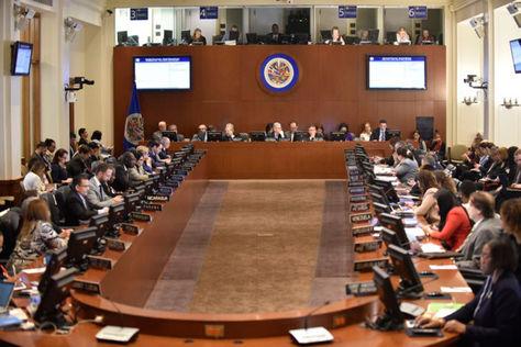 Sesión extraordinara de la OEA para considerar la situación de Venezuela. Foto: www.oas.org
