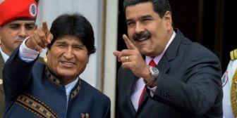 Evo se solidariza con Maduro en medio del reconocimiento a Guaidó