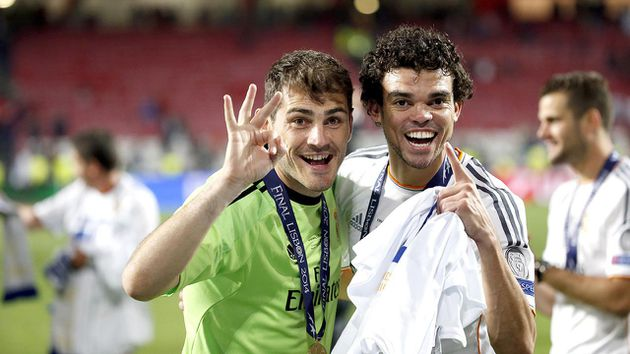pepe iker casillas excompañeros real madrid compañeros porto portugal uefa champions league octavos final ida as roma
