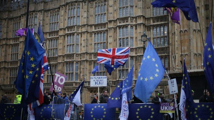 Manifestaciones contra el Brexit (AFP)