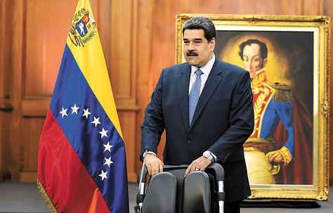 Nicolás Maduro ofreció una conferencia de prensa. Foto: AFP