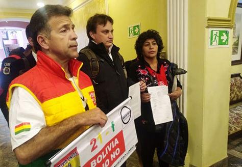 Representantes de plataformas tras reunión con el secretario General de la Comisión Interamericana de Derechos Humanos (CIDH), Paulo Abrão.