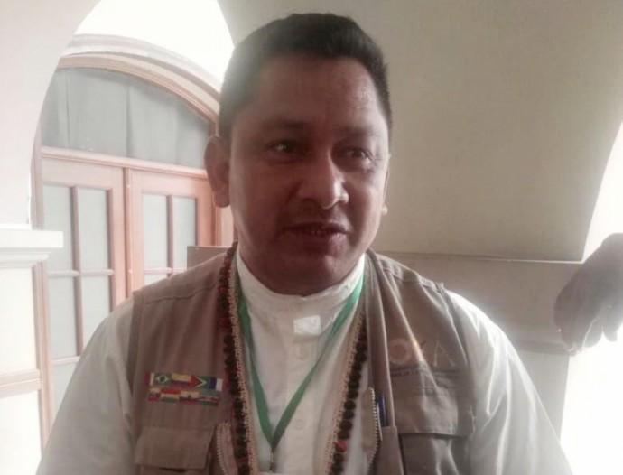 El ex líder indígena Adolfo Chávez. FOTO: CORREO DEL SUR