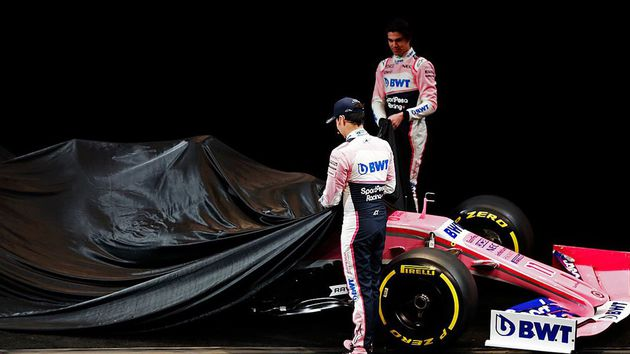 La escudería SportPesa Racing Point de Checo Pérez reveló el monoplaza para 2019