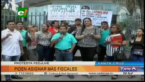 Fejuve exige que se asigne más fiscales para Santa Cruz