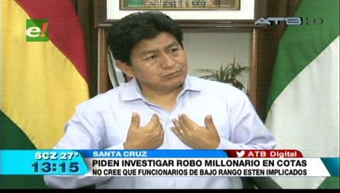 Diputado Montaño pide una investigación sobre el robo en Cotas