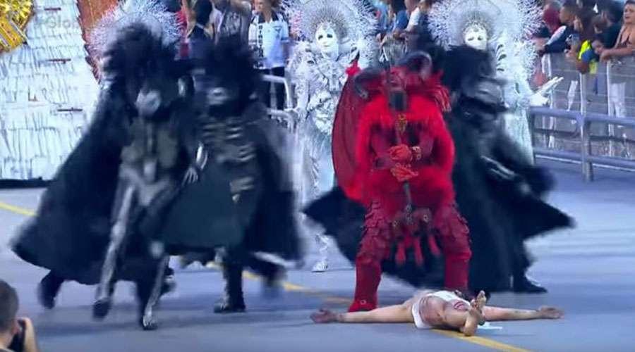 """3763ad0d4f81 Carnaval de Brasil: Escuela de samba muestra al diablo """"venciendo ..."""
