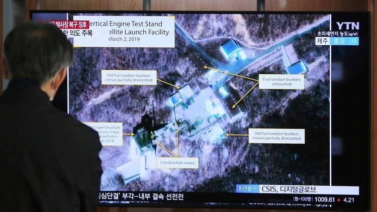 Las imágenes que mostraron actividad en las instalaciones de misiles norcoreanas (AP)