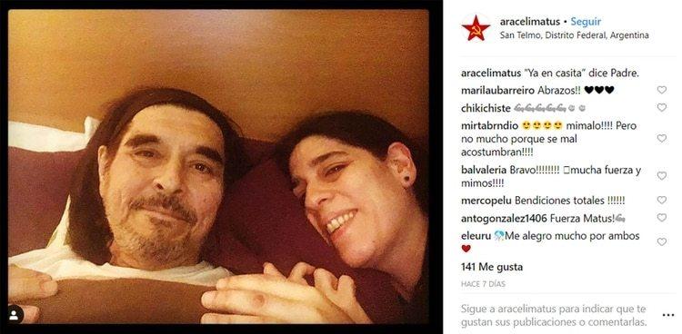 Fabián y su hija Araceli