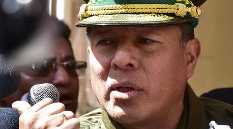 El comandante general de la Policía Boliviana, general Rómulo Delgado.