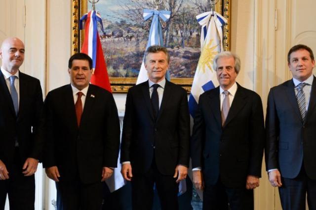 Sin Bolivia: Argentina, Chile, Paraguay y Uruguay oficializarían su candidatura al Mundial esta semana