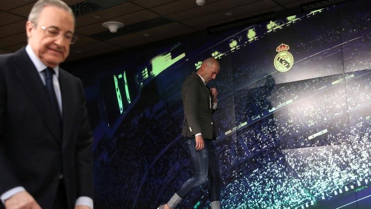 """Real Madrid: el primer """"cruce"""" entre Zinedine Zidane y Florentino Pérez por un futbolista"""