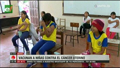 SEDES: Vacunan a niñas contra el cáncer de cuello uterino