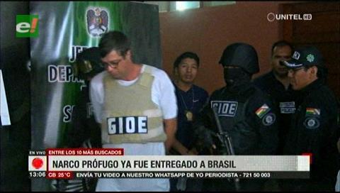 Anoche fue entregado a su país el narco prófugo de Brasil