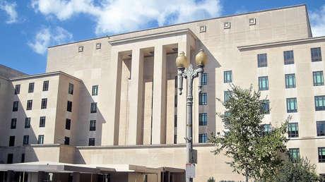 Vista exterior del Departamento de Estado de los Estados Unidos.