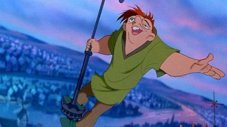 Quasimodo, en la versión de Disney