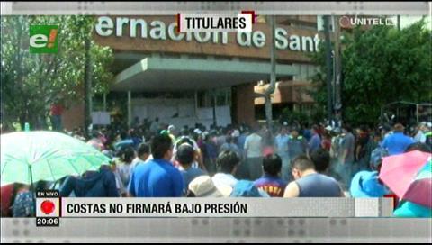 Video titulares de noticias de TV – Bolivia, noche del martes 16 de abril de 2019
