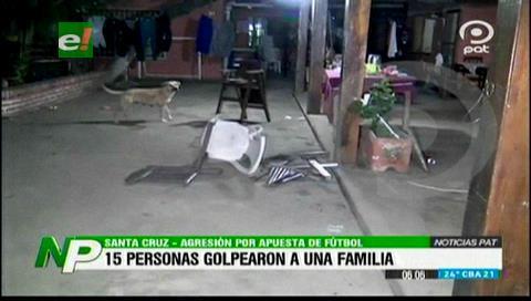 """Familia es agredida por una turba a causa de una """"apuesta futbolera"""""""