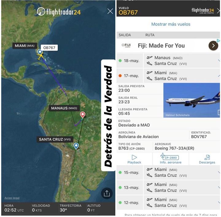 Muere pasajero en avión de BoA que cubría ruta Miami-Santa Cruz, aeronave desvió…