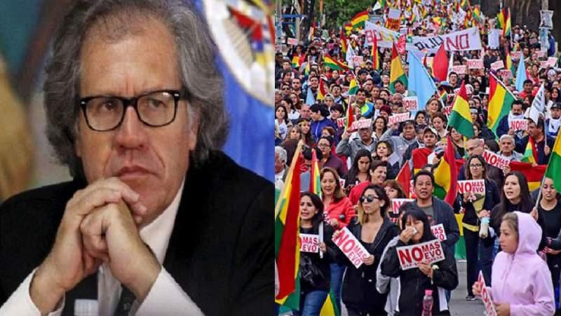 Protestas por el 21F y proclamación de Evo, el escenario que espera a Almagro