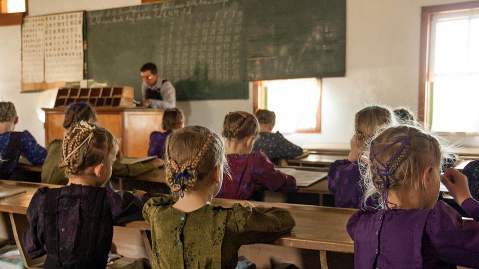 Una escuela menonita en la Colonia Belize, en Bolivia.