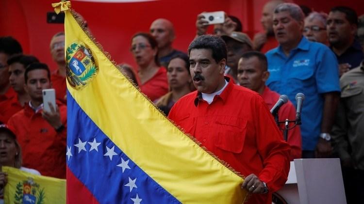 Nicolas Maduro en un acto en Caracas el 1 de mayo en 2019 (REUTERS/Fausto Torrealba)