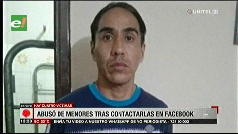 Hombre contactaba a menores por Facebook para abusar de ellas