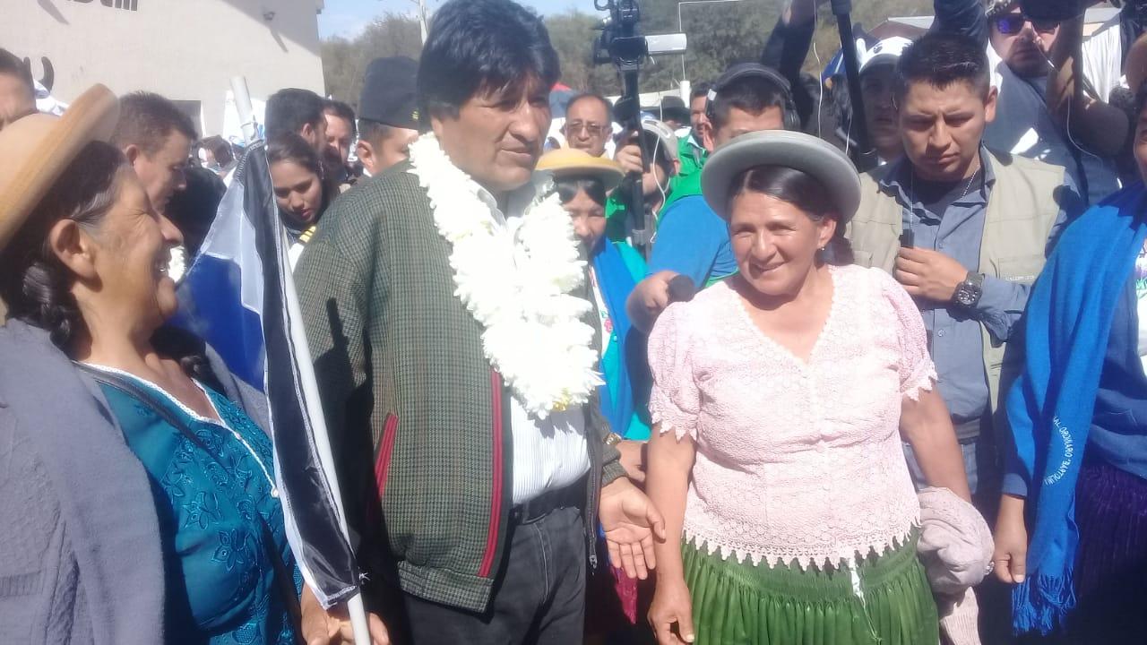 Evo ratifica en Tarija que Bolivia es el
