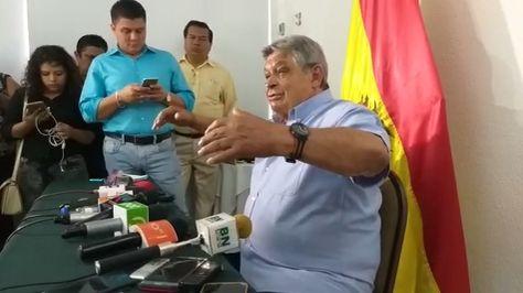 Jaime Paz Zamora anuncia que declinó a su postulación a la Presidencia.