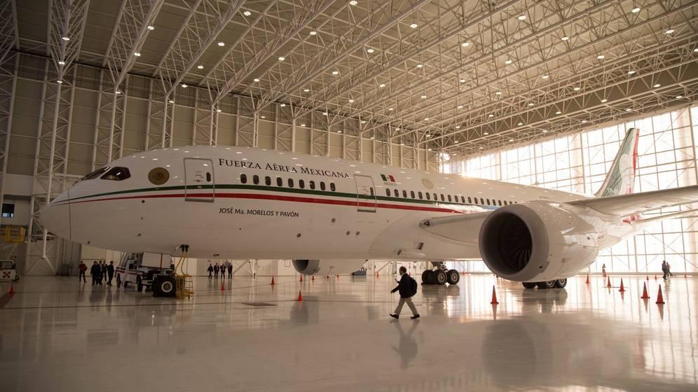 Foto: Vista general del avión presidencial (TP 01 Boeing 787-8. (EFE)