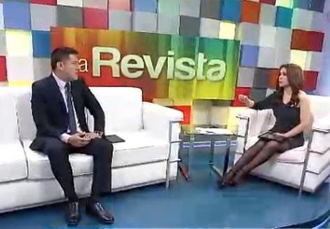 El ministro Zavaleta en la entrevista con la red Unitel.