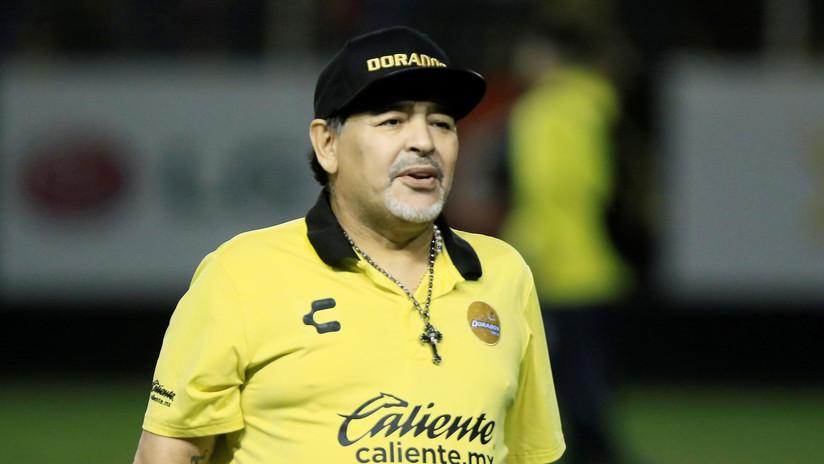 Diego Maradona deja de ser director técnico de Dorados de Sinaloa por