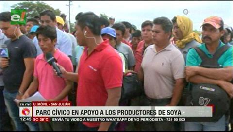 El descontento por el precio de la soya genera paro cívico en San Julián
