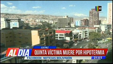 El frío cobra su quinta víctima en La Paz