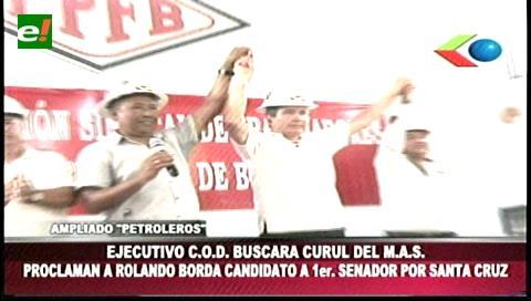 Proclaman a Rolando Borda como candidato a primer senador por Santa Cruz del MAS