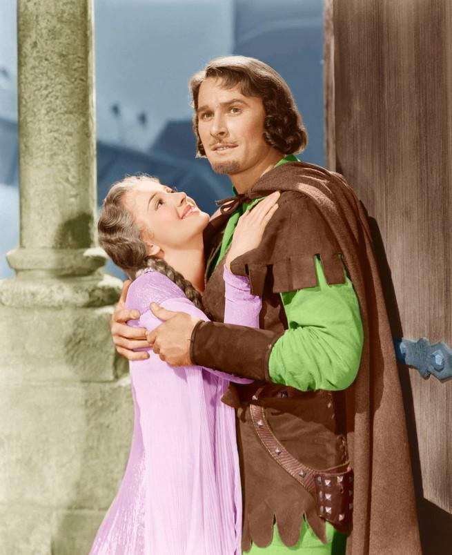 Olivia de Havilland y Errol Flynn, en