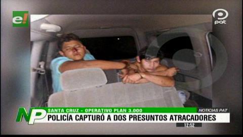 Policía capturó a presuntos atracadores en el Plan 3000