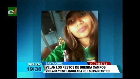 Velan los restos de Brenda Campos, violada y estrangulada por su padrastro