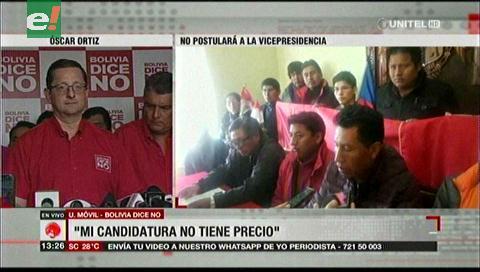 """Oscar Ortiz: """"Mi candidatura no tiene precio"""""""