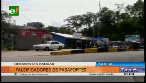 Desbaratan banda de falsificadores de pasaportes