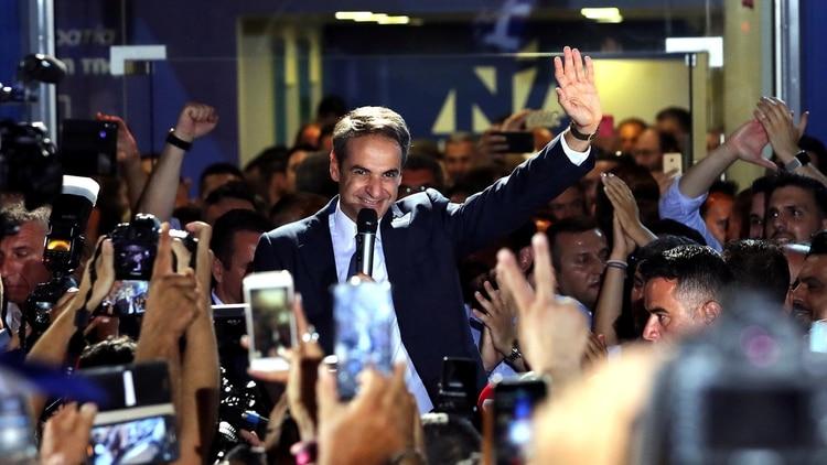 Kyriakos Mitsotakis, líder del partido Nueva Democracia, ganador de las elecciones en Grecia(REUTERS/Alkis Konstantinidis)
