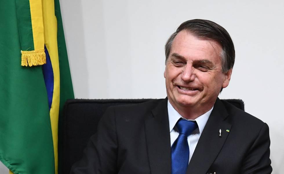 Bolsonaro, este jueves, en Brasilia.